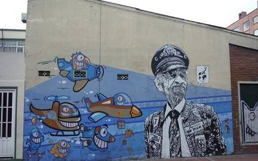 Barselonalı sanatçı Pez'i Bogata'daki çalışması / Kolombiya