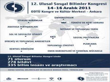 12. Sosyal Bilimler Kongresi ve Behice Boran Ödülleri