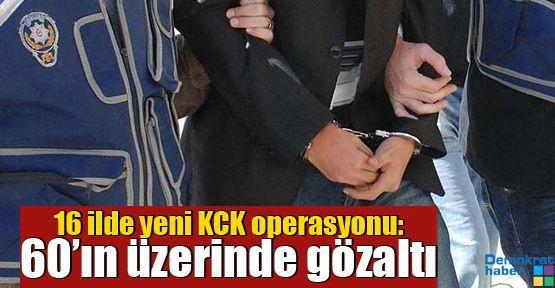 16 ilde yeni KCK operasyonu: 60'ın üzerinde gözaltı