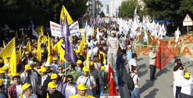 1 Mayıs Mersin'de coşkuyla kutlandı, Taksim unutulmadı