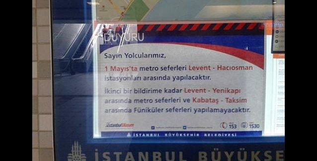 1 Mayıs'ta Taksim'e çıkan yollar 'ikinci bir bildirime kadar' kapalı