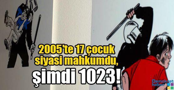 2005'te 17 çocuk siyasi mahkumdu, şimdi 1023!