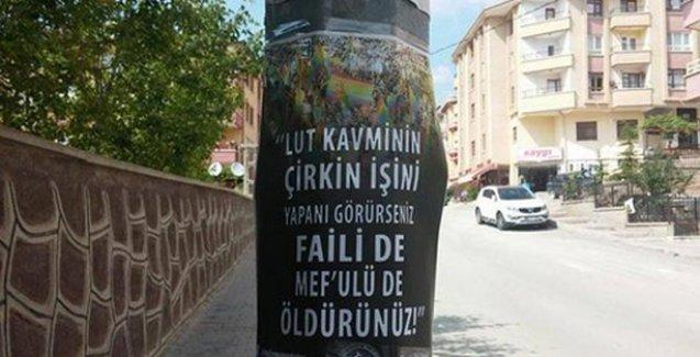 Ankara'da eşcinsellere yönelik tehdit afişleri asıldı