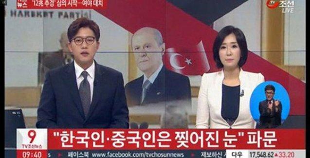 Bahçeli'nin 'çekik göz' açıklaması Kore basınında: 'MHP liderinden ırkçı söylemler'