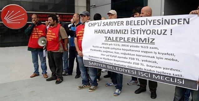 CHP'li Sarıyer Belediyesi'nin işçileri süresiz açlık grevine başladı