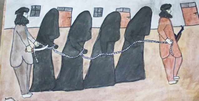 Ezidi çocukların çizgileriyle IŞİD vahşeti