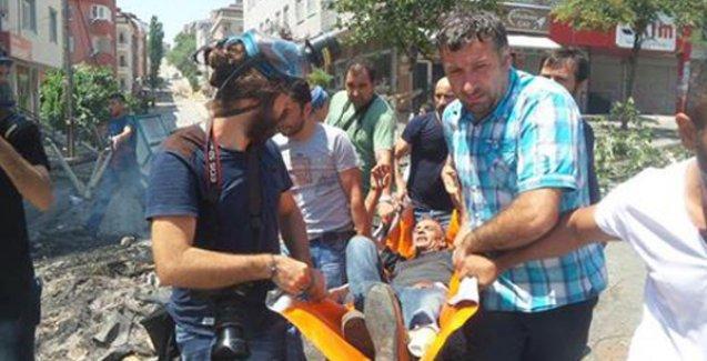Gazi'de DİHA muhabiri gaz fişeği ile yaralandı
