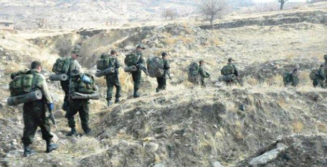 Operasyona çıkan askerler ile HPG'liler arasında çatışma