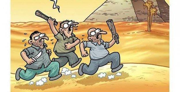 Penguen'de ülkücüler bu kez de Çin Seddi diye Mısır Piramitleri'ne saldırıyor