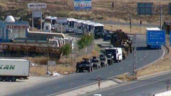 Şırnak'a 100 araçtan oluşan askeri sevkiyat yapıldı