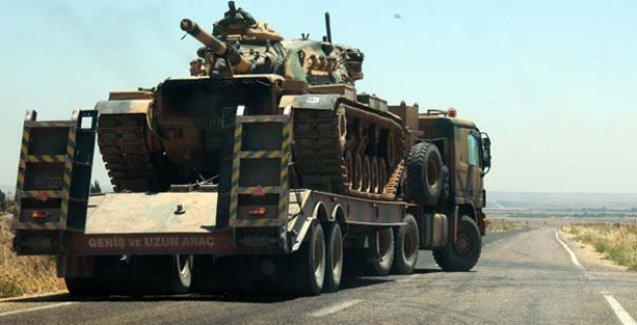 Suriye sınırına askeri yığınak devam ediyor