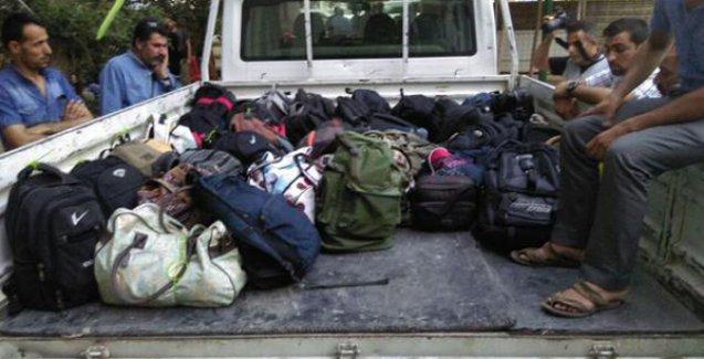 Suruç'taki katliamda yaralanan ve yaşamını yitirenlere ait çantalar teslim edildi