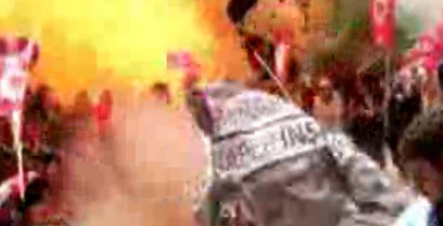 Suruç'taki patlama anı kameralarda