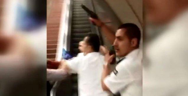 Taksim Metrosu'ndaki güvenlik görevlileri işçilere silah çekip, kelepçe salladı!