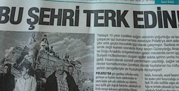 Ankara'da bir yerel gazete mevsimlik işçileri manşetten tehdit etti: 'Bu şehri terk edin!'
