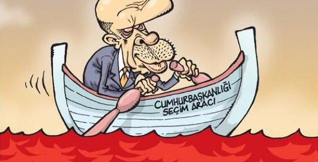 Erdoğan Gırgır'ın kapağında: Kan denizinde kürek çekiyor