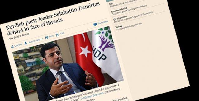 HDP'nin tekzibinin ardından Financial Times Demirtaş söyleşisini düzeltti