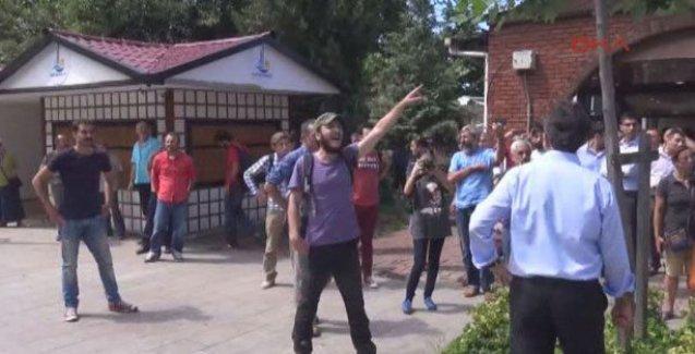Hopa'da Bakan Eroğlu'na protesto