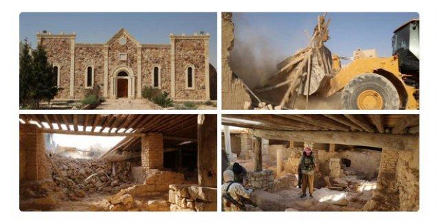IŞİD, 1600 yıllık manastırı buldozerle yıktı