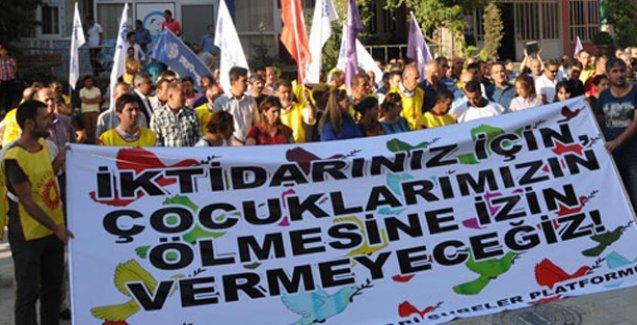 KESK'ten 'Savaşa hayır' yürüyüşü
