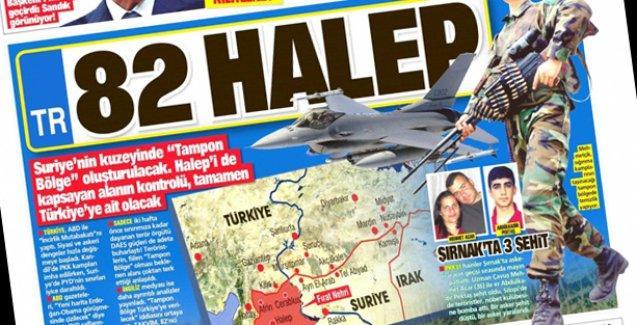 Takvim Gazetesi 82 Halep manşetiyle çıktı