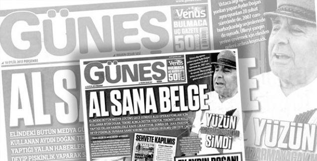 Aydın Doğan'dan Güneş gazetesi ve Ethem Sancak'a suç duyurusu