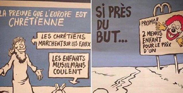 Charlie Hebdo, Aylan Kurdi çizimiyle gündemde
