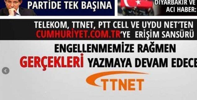 Cumhuriyet'in internet sitesine erişim engeli