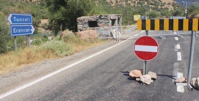 Dersim kent merkezini Pülümür ve Ovacık'a bağlayan yollar trafiğe kapatıldı