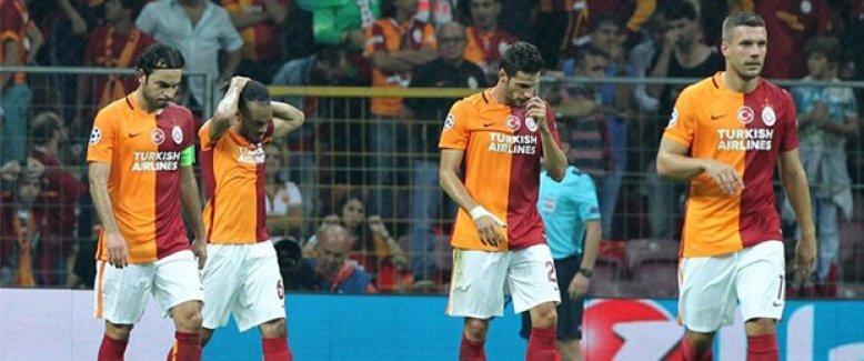 Galatasaray'dan Şampiyonlar Ligi'ne kötü başlangıç