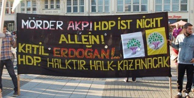 HDP'ye yapılan saldırılar Avrupa'nın birçok şehrinde protesto edildi