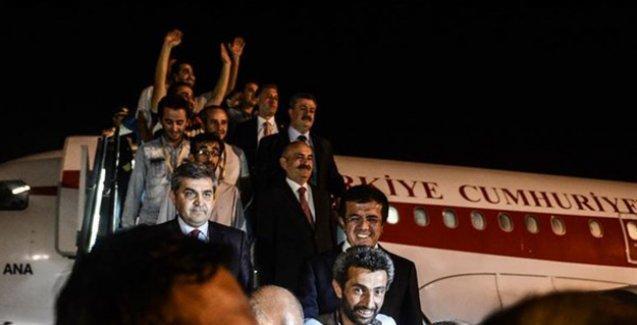 Irak'ta serbest bırakılan işçiler Ankara'ya getirildi