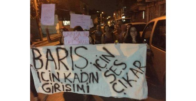 Kadınların barış yürüyüşüne polis engeli