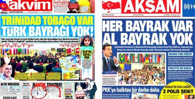 Saruhan Oluç'tan Demirtaş'ı hedef gösteren Akşam ve Takvim'e tepki