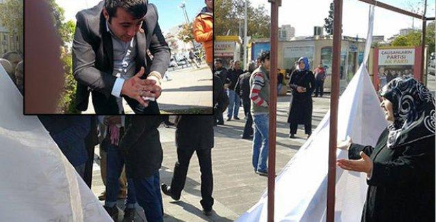 AKP'lilerden Saadet Partililere saldırı: Darp ettiler, standı dağıttılar