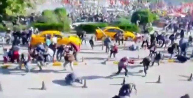 Ankara'daki patlamanın güvenlik kamerası görüntüleri ortaya çıktı