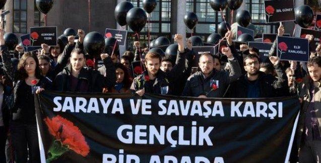 CHP ve HDP gençlik kollarından Ankara garı önünde ortak anma