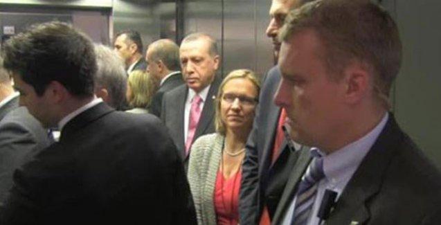 Cumhurbaşkanı Erdoğan'ın bindiği asansör çalışmayınca: 'Biri insin ya..'