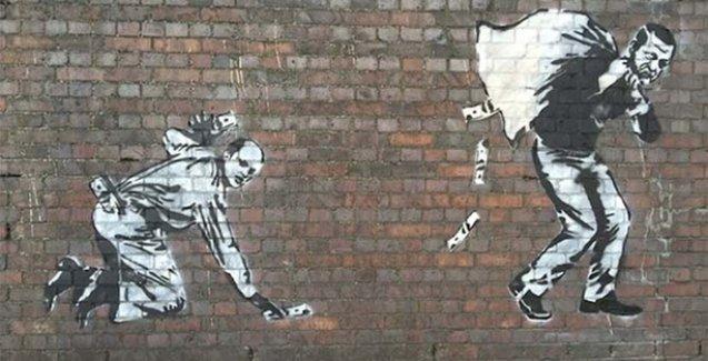 Londra'daki 'Erdoğan ailesi' çizimi, Banksy'e ait değil