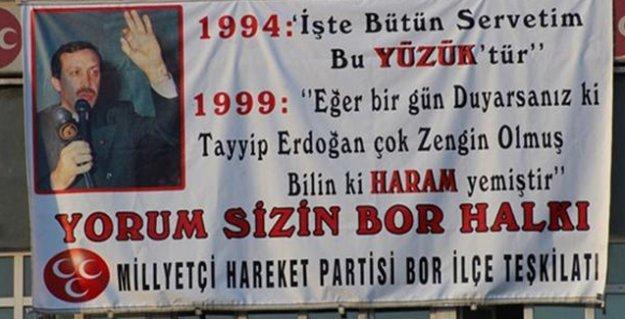MHP, Erdoğan'ın sözünü pankart yaptı