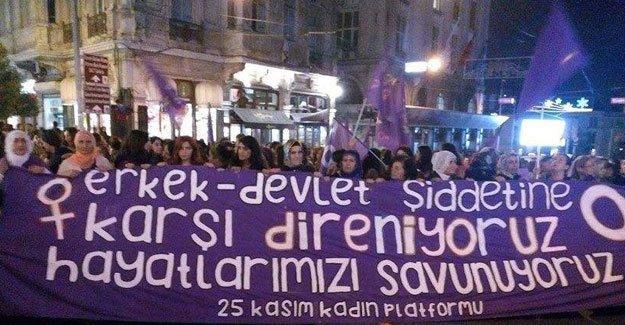 25 Kasım kadına şiddet ile mücadele gününde kadınlar meydanlarda