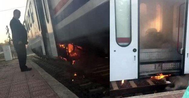 600 yolcu taşıyan trende yangın!