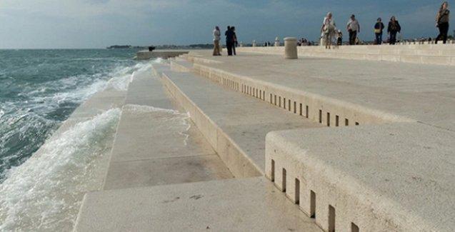 70 metrelik bu devasa org, dalgaların ritimlerini müziğe dönüştürüyor