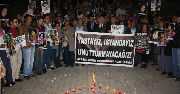 Ankara katliamında katledilenler Mersin'de anıldı