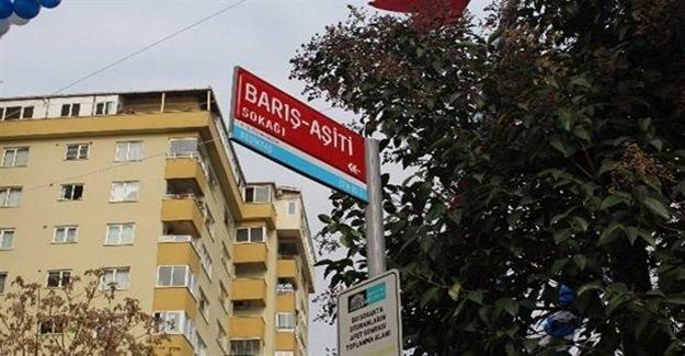 Beşiktaş'ta 'Barış-Aşiti' sokağı