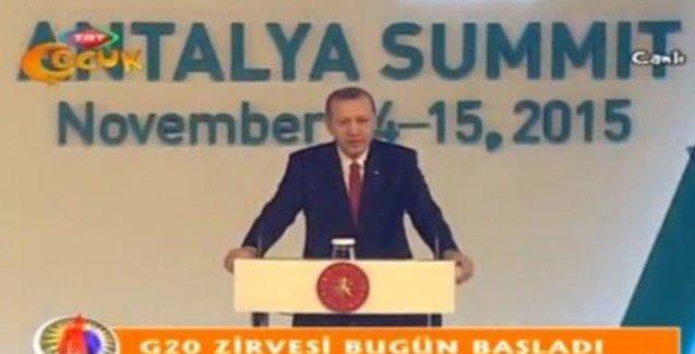 Erdoğan TRT Çocuk'tan seslendi!