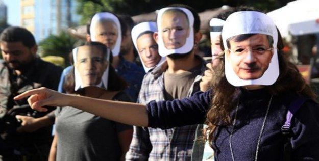 G-20'ye maskeli protesto