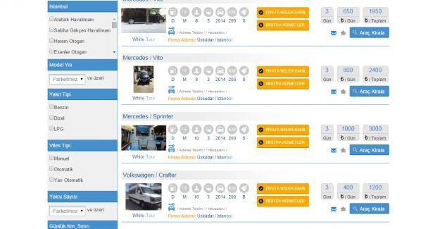 İstanbul Rent a Car Firmaları Ekranınızda!