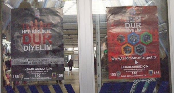 Kayseri'de 'Teröristi ihbar et' afişleri asıldı