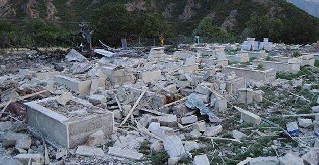 Lice'de ikinci kez PKK mezarlığı bombalandı